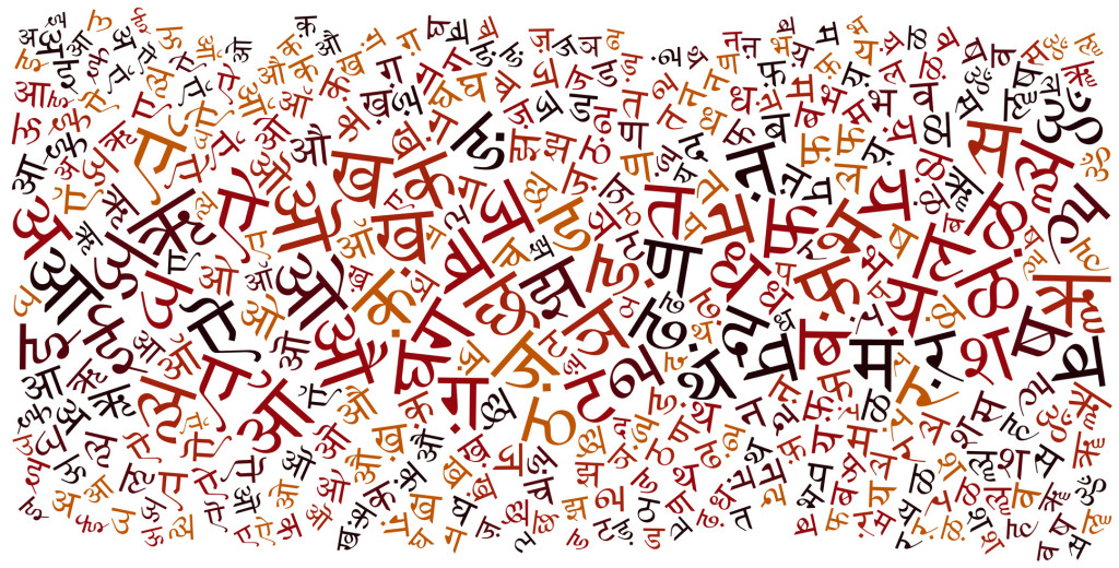 hindi alphabet texture background - high resolution