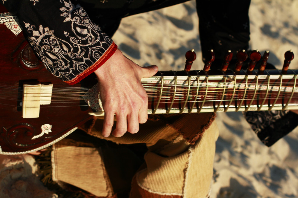 Man playing the sitar