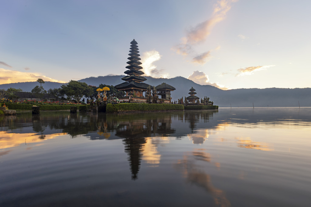 Ulun Danu temple Beratan Lake in Bali Indonesia, Temple of the l