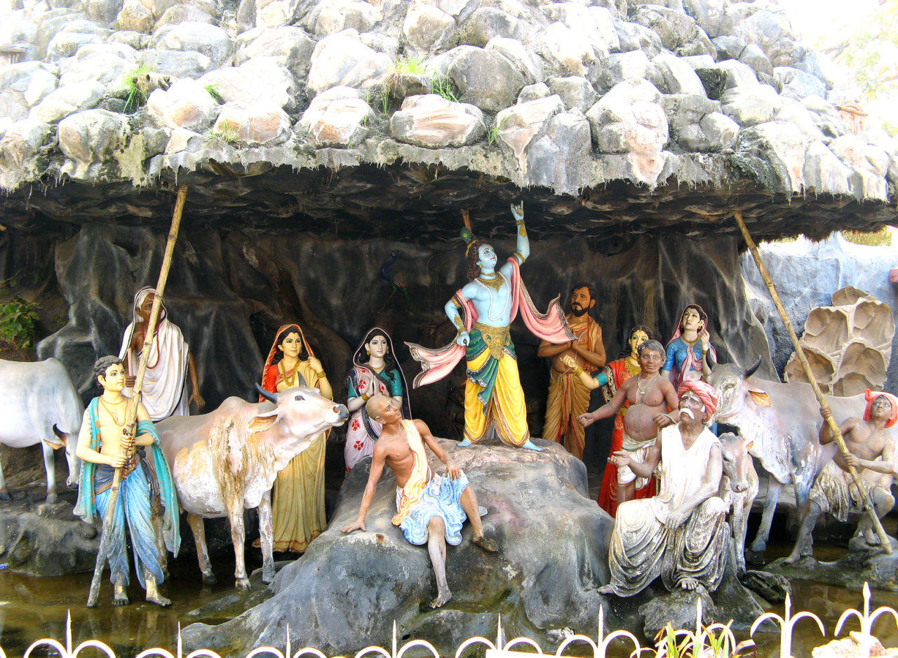 the lifting of govardhan