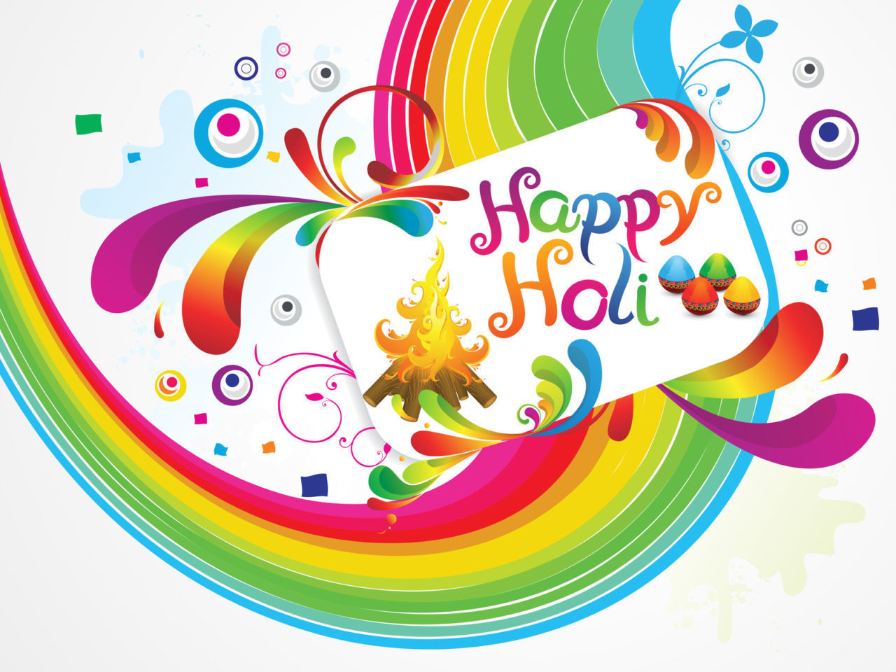 abstract artistic happy holi background vector illustration